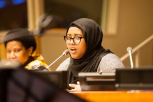 Speaker at UN CSW 61 Youth Forum